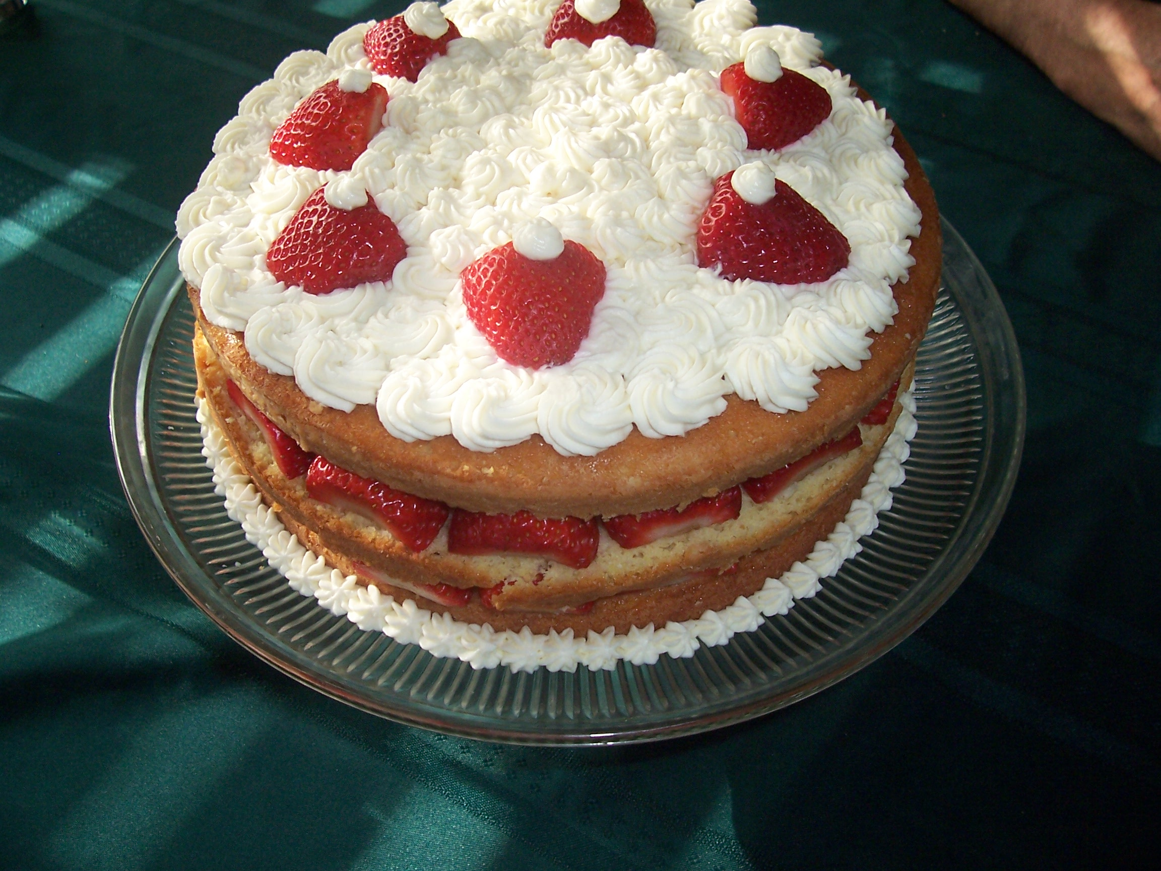 strawberries and cream chiffon cake with strawberries and cream recipe ...